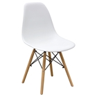 Ion Dining Chair - White Plastic (Set of 2)