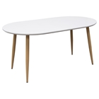 Ion Oval Extension Dining Table - White