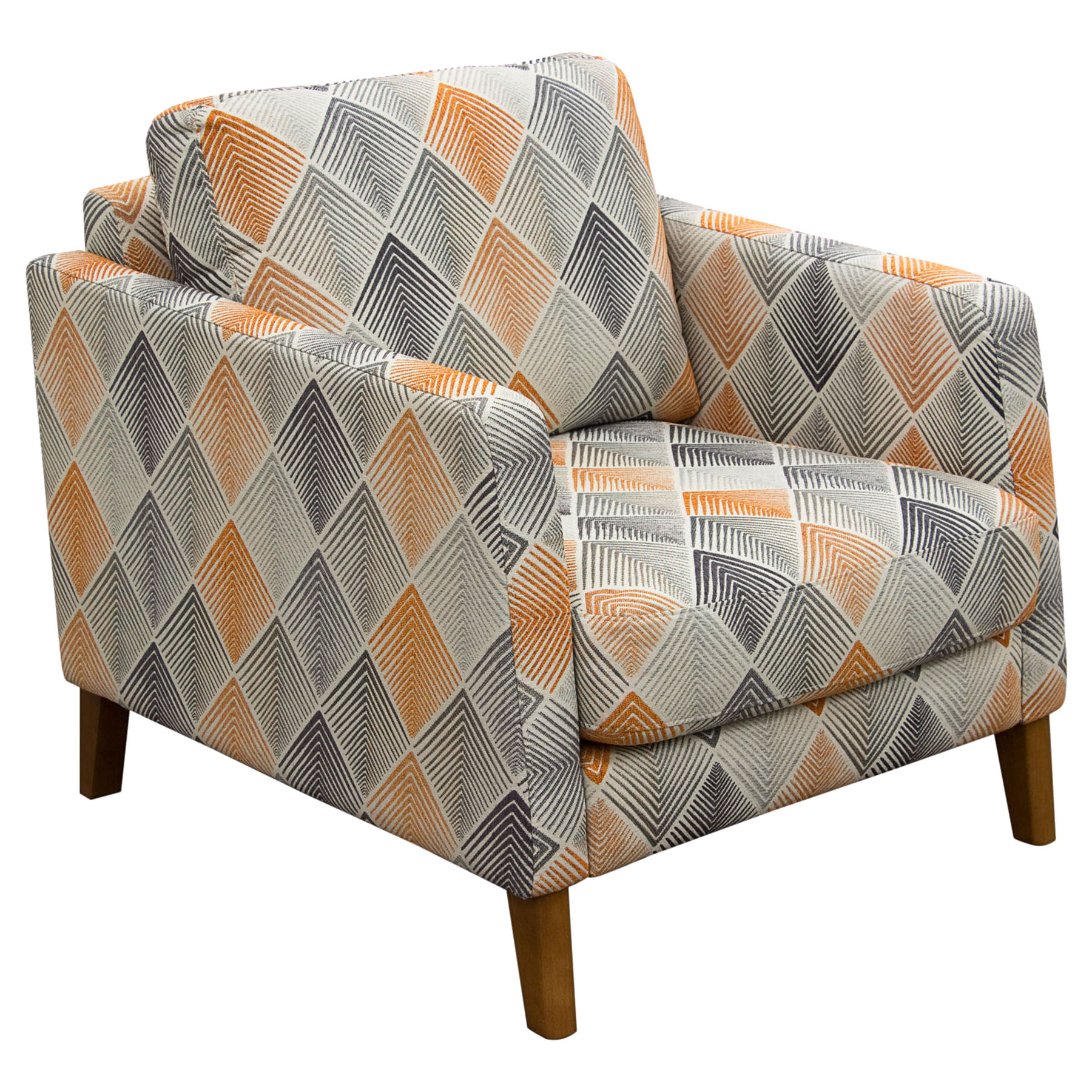 Keppel Patterned Fabric Armchair - Hawaiian Sunset