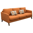 Keppel Solid Fabric Sofa - Hawaiian Sunset, Accent Pillow