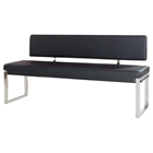 Knox Leatherette Bench - Black