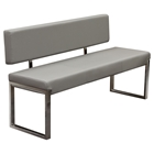 Knox Leatherette Bench - Gray