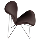 Lexi Fabric Accent Chair - Chocolate