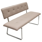 Maddox Leatherette Bench - Tufted, Taupe