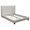 Madison Platform Bed - Tapered Wings, Tufted, White - DS-MADISONNWH-BED