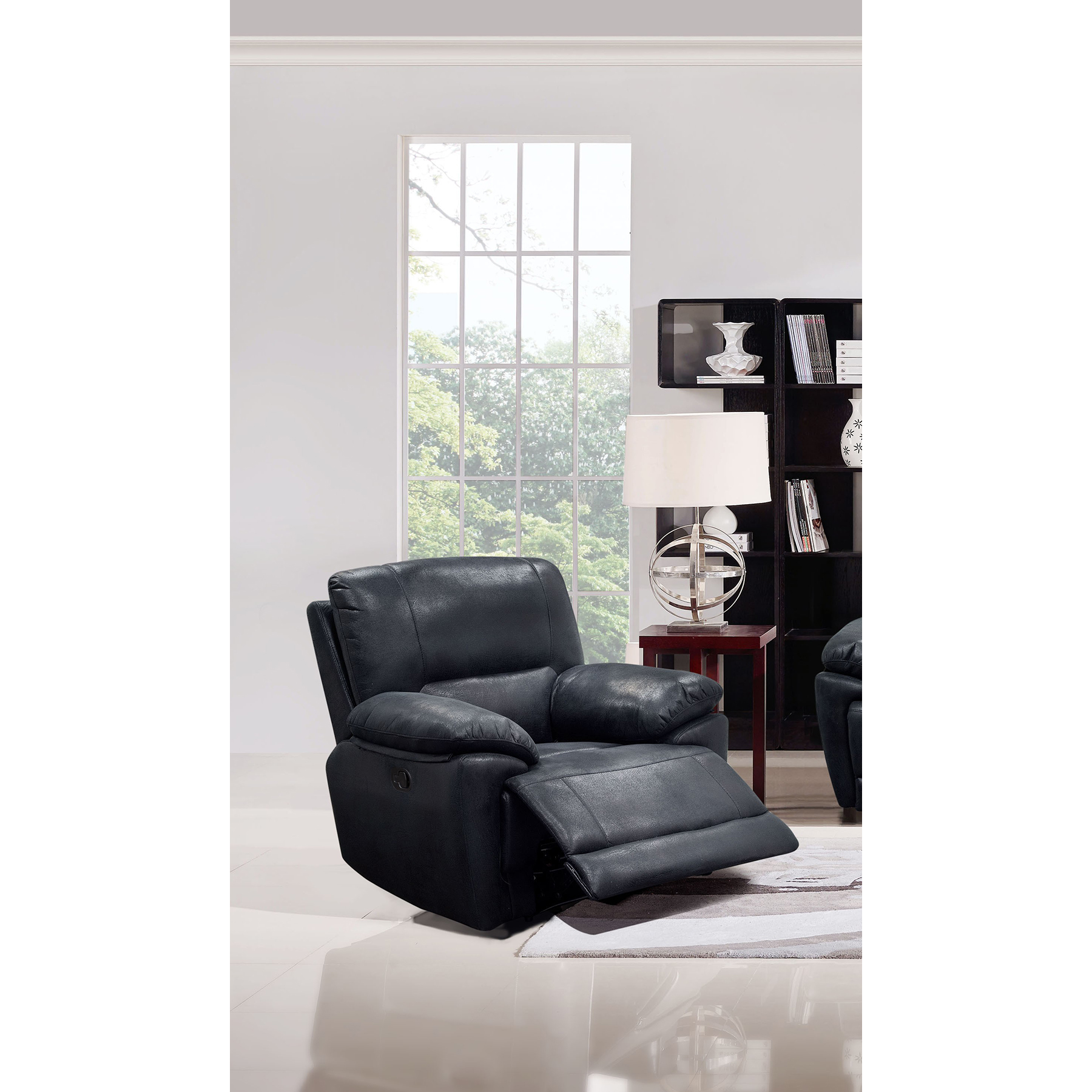 Mason Reclining Chair - Black