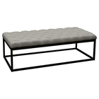 Mateo Large Bench - Tufted, Gray, Black