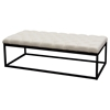 Mateo Large Bench - Tufted, Desert Sand, Black
