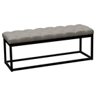 Mateo Small Bench - Tufted, Gray, Black