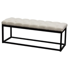 Mateo Small Bench - Tufted, Desert Sand, Black