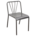 Mercer Metal Dining Chair - Gray (Set of 2)