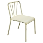Mercer Metal Dining Chair - Antique White (Set of 2)