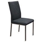 Fabric Dining Chair - Gray, Handle (Set of 2)