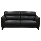 Monaco Leatherette Sofa - Black