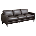 Omega Full Leather Sofa - Dark Chocolate