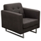 Opus Arm Chair - Tufted, Chocolate - DS-OPUSCHCH