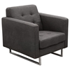 Opus Arm Chair - Tufted, Gray