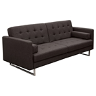 Opus Convertible Sofa - Tufted, Chocolate