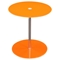 Orbit Glass Accent Table - Adjustable Height, Orange, Chrome - DS-ORBITETOR
