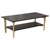 Perch Rectangular Cocktail Table - Black, Oak, Shelf