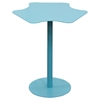 Peta Metal Accent Table - Pedestal Base, Blue