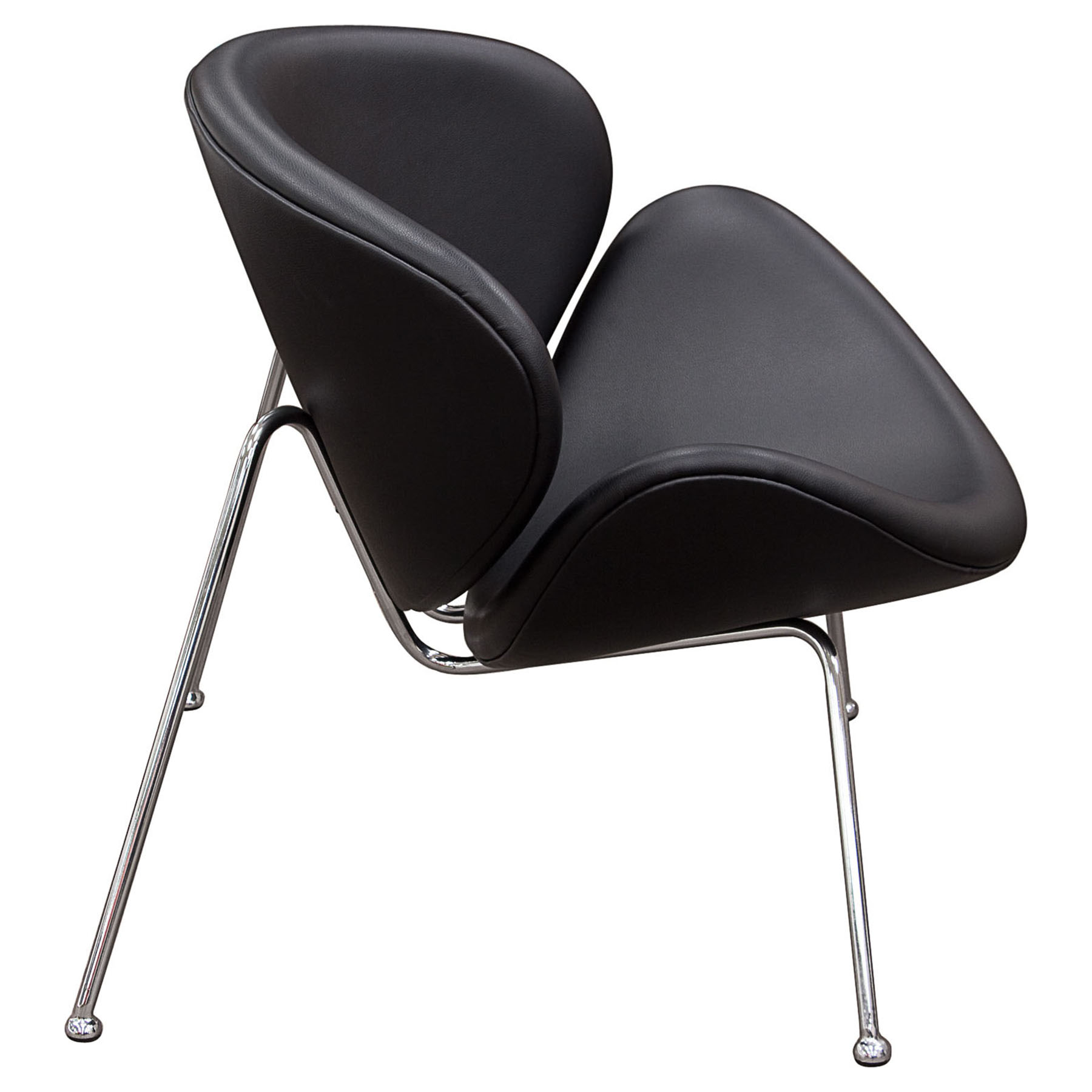 Roxy Accent Chair - Black, Chrome - DS-ROXYCHBL