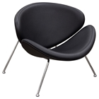Roxy Accent Chair - Black, Chrome