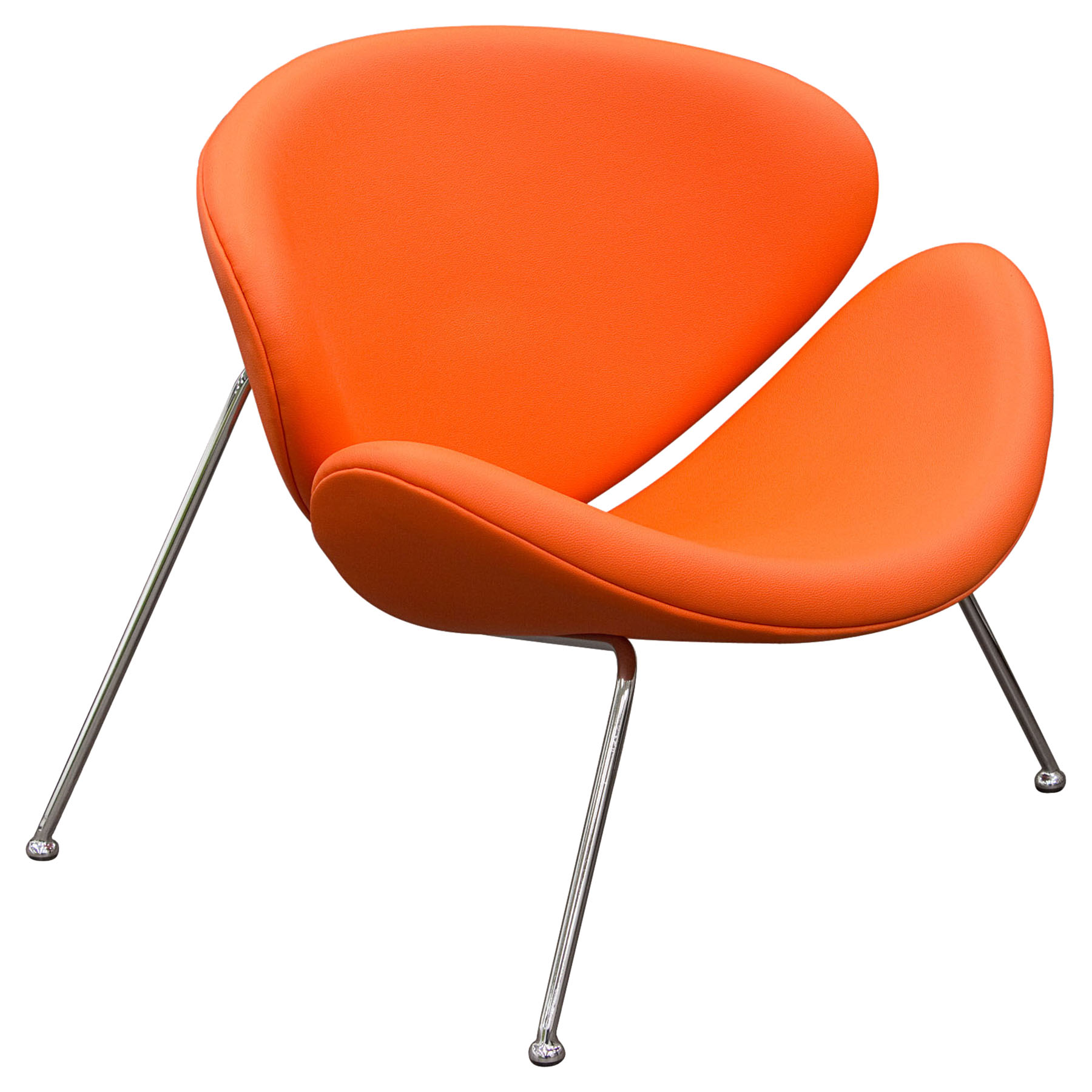 Roxy Accent Chair - Orange, Chrome
