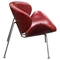 Roxy Accent Chair - Vintage Red, Chrome - DS-ROXYCHVRE