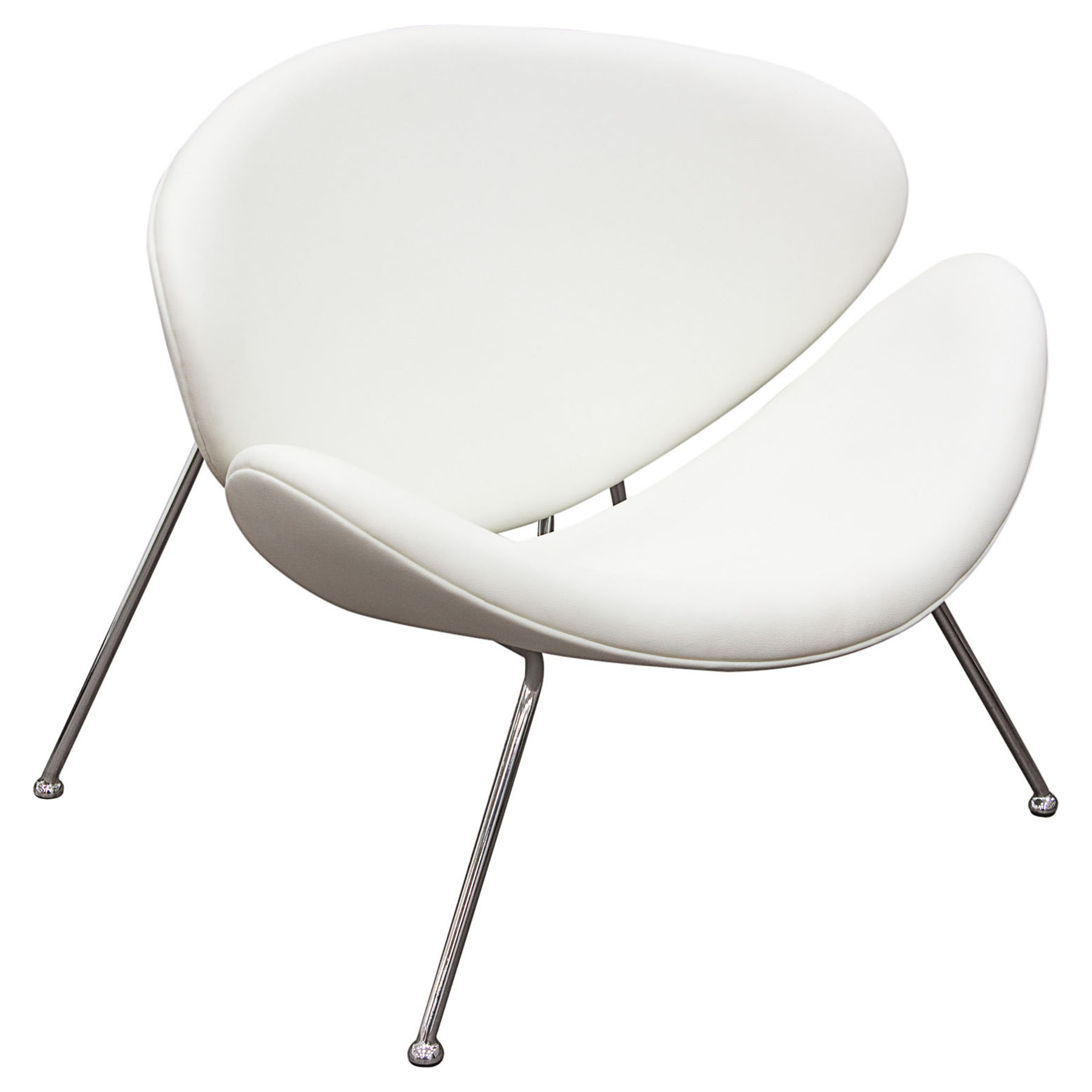 Roxy Accent Chair - Chrome, White (Set of 2)