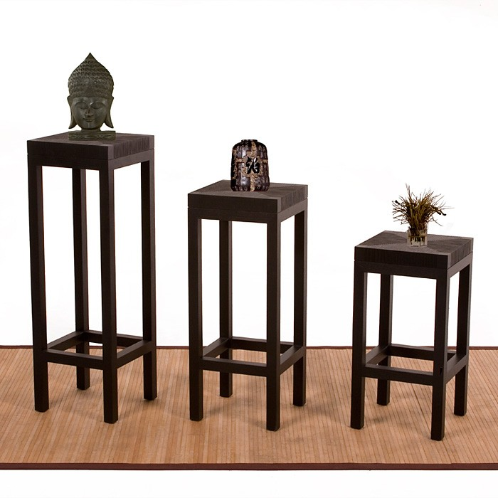 Dark Walnut Accessory or Plant Stand - DS-S0620X