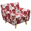 Scarlett Patterned Fabric Accent Chair - Rouge Floral