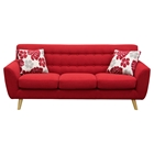 Scarlett Fabric Sofa - Rouge Red
