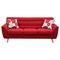 Scarlett Fabric Sofa - Rouge Red - DS-SCARLETTSORE