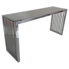 Soho Rectangular Console Table - Glass Top, Stainless Steel