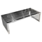 Soho Rectangular Cocktail Table - Stainless Steel, Glass Top - DS-SOHOCTST