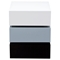 Spark Accent Table - 2 Drawers, White, Gray, Black - DS-SPARKNSGR