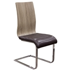 Summit Spring Back Dining Chair - Chocolate, Ash, Chrome (Set of 2)