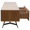 Tempo Low Profile Entertainment Cabinet - 1 Drawer, Shelf, Walnut - DS-TEMPOTV