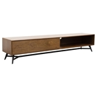 Tempo Low Profile Entertainment Cabinet - 1 Drawer, Shelf, Walnut