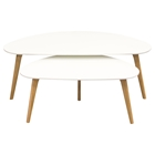 Terra 2 Pieces Nesting Cocktail Table Set - White, Oak