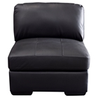 Urban Leather Chair - Tufted, Mocca, Armless