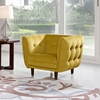 Venice Fabric Chair - Button Tuft, Yellow