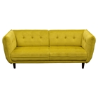 Venice Fabric Sofa - Button Tuft, Yellow