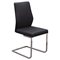 Spring Back Dining Chair - Black, Chrome (Set of 2) - DS-VERONADCBL