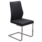 Spring Back Dining Chair - Black, Chrome (Set of 2)