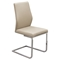 Spring Back Dining Chair - Taupe, Chrome (Set of 2) - DS-VERONADCTA