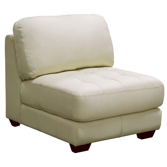 Zen Armless Leather Tufted Seat Chair - DS-ZENARMLESSCHAIRX