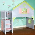 Nancy Doll House Loft Bed - Staircase, Drawers, Pastel Colors