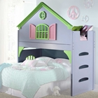Nancy Doll House Loft Bed - Ladder, Pastel Colors